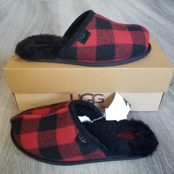 5f70a020b25 NEW UGG Men's Scuff Plaid Slippers. NWT